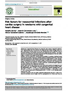 Risk factors for nosocomial infections after cardiac surgery in