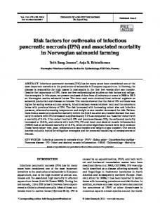 Risk factors for outbreaks of infectious pancreatic necrosis (IPN) and ...