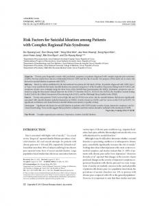 Risk Factors for Suicidal Ideation among Patients with ... - CiteSeerX