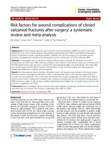 Risk factors for wound complications of closed