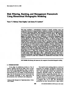 Risk Filtering, Ranking, and Management Framework Using ...