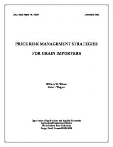 risk management strategies - AgEcon Search