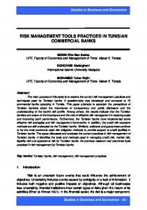 risk management tools practiced in tunisian commercial banks
