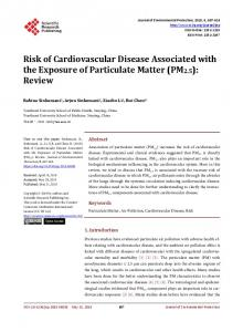 Risk of Cardiovascular Disease Associated with the ...