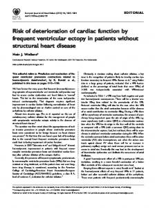Risk of deterioration of cardiac function by ... - Wiley Online Library