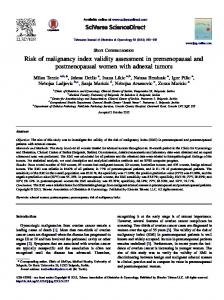 Risk of malignancy index validity assessment in ... - Core