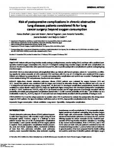 Risk of postoperative complications in chronic