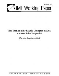 Risk Sharing and Financial Contagion in Asia: An ... - SSRN papers