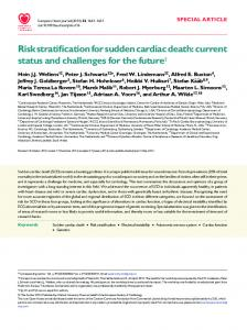 Risk stratification for sudden cardiac death - BioMedSearch