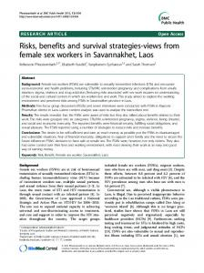 Risks, benefits and survival strategies-views from ... - BioMedSearch