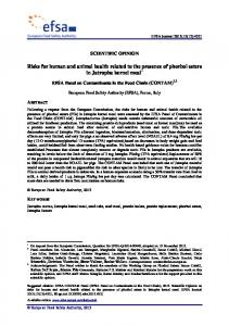 Risks for human and animal health related to the ...