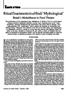 Ritual and Mythological Recuperation in the Drama of