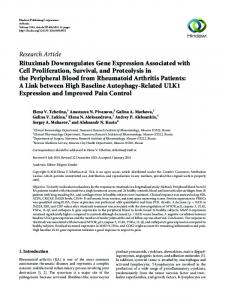 Rituximab Downregulates Gene Expression Associated with Cell ...