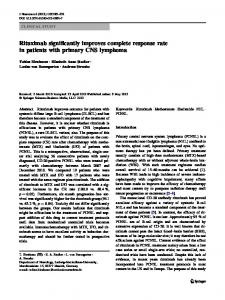 Rituximab significantly improves complete response ... - Springer Link