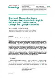 Rituximab Therapy for Severe Cutaneous ... - Semantic Scholar