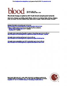 Rituximab therapy of patients with B-cell chronic lymphocytic leukemia
