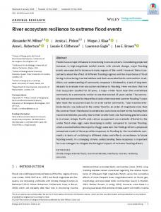 River ecosystem resilience to extreme flood ... - Wiley Online Library