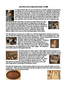 RiversWest Bronze Casting Class October 18
