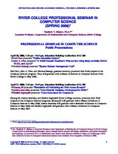 rivier college professional seminar in computer science (spring 2006)
