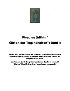 Riyad us Salihin - The Islamic Bulletin