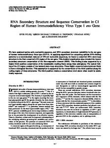 RNA Secondary Structure and Sequence ... - Semantic Scholar