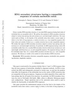 RNA secondary structures having a compatible sequence of certain ...