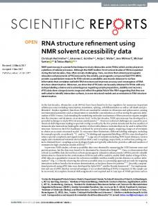 RNA structure refinement using NMR solvent accessibility ... - mediaTUM