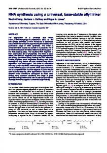 RNA synthesis using a universal, base-stable allyl ... - BioMedSearch