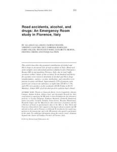Road accidents, alcohol, and drugs: An Emergency
