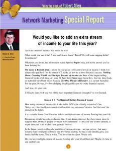 Robert Allen Special Report - True Friends International Success ...