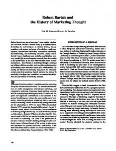 Robert Bartels and the History of Marketing Thought - CiteSeerX