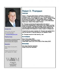 Robert D. Thompson - Waters McPherson McNeill, PC