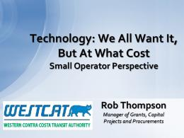 Robert Thompson, Western Contra Costa Transit Authority
