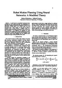Robot Motion Planning Using Neural Networks: A ... - Semantic Scholar