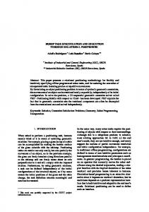 ROBOT TASK SPECIFICATION AND EXECUTION ... - CSIC Digital