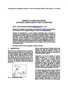 robotic calibration issues: accuracy, repeatability and ... - CiteSeerX