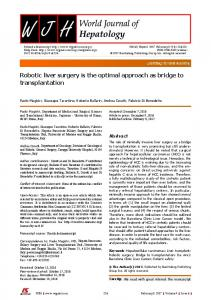 Robotic liver surgery is the optimal approach as ... - Semantic Scholar