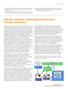 Robotic networks: delivering empowerment ... - Wiley Online Library
