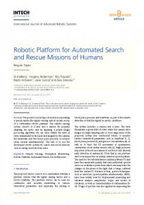 Robotic Platform for Automated Search and ... - Semantic Scholar