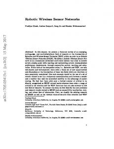 Robotic Wireless Sensor Networks
