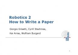 Robotics 2 How to Write a Paper