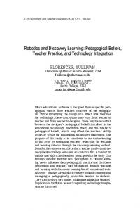 robotics and discovery learning: pedagogical Beliefs ... - LearnTechLib