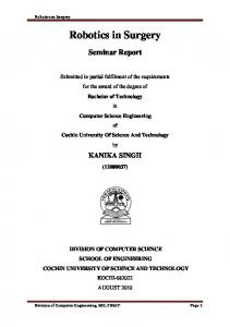 Robotics in Surgery.pdf - DSpace at CUSAT - Cochin University of ...