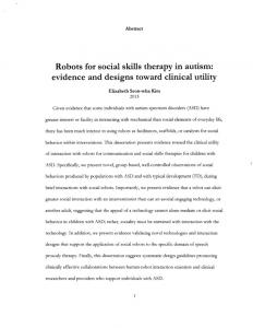 Robots for social skills therapy in autism ... - Social Robotics Lab