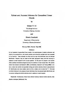 Robust and Accurate Inference for Generalized Linear Models - Core