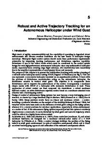 Robust and Active Trajectory Tracking for an Autonomous Helicopter ...