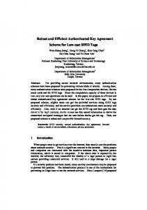 Robust and Efficient Authenticated Key Agreement ... - Semantic Scholar