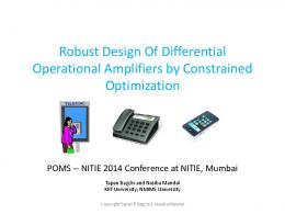 Robust Design Of Differential Operational Amplifiers