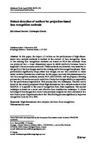 Robust detection of outliers for projection-based face ... - Springer Link