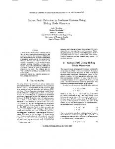 Robust fault detection in nonlinear systems using sliding ... - IEEE Xplore